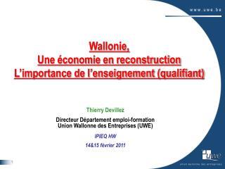 Wallonie, Une économie en reconstruction L'importance de l'enseignement (qualifiant)