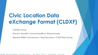 Civic Location Data  eXchange  Format (CLDXF)