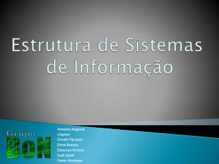 EstruturadeSistemas de Informação