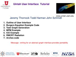 Uintah User Interface Tutorial