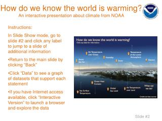 How do we know the world is warming? An interactive presentation about climate from NOAA