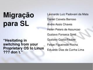 Migração para SL