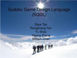 Sudoku Game Design Language (SGDL)