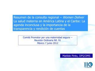 Resumen de la consulta regional – Women Deliver