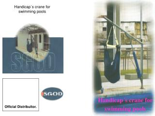 Handicap´s crane for swimming pools