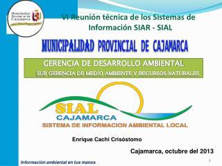 MUNICIPALIDAD PROVINCIAL DE CAJAMARCA