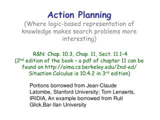Planning with situation calculus