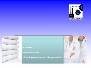 Uniformes Ropa de quirófano Ropa de personal externo (Primeros auxilios)