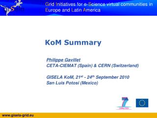 Philippe Gavillet CETA-CIEMAT (Spain) & CERN (Switzerland)