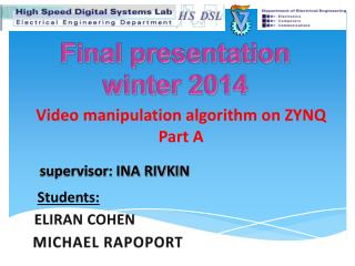 Final presentation winter 2014