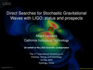 Direct Searches for Stochastic Gravitational Waves with LIGO: status and prospects