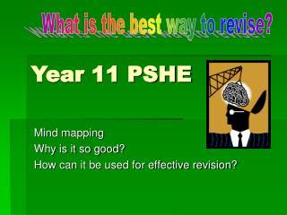 Year 11 PSHE