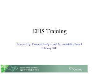 EFIS Training