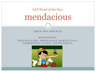 SAT Word of the Day: mendacious