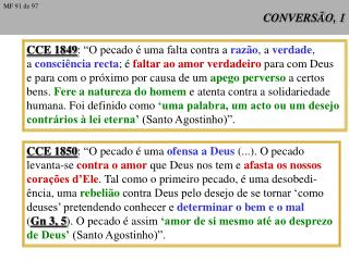 CONVERSÃO, 1