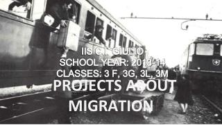 PROJECTS ABOUT MIGRATION