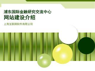 浦东国际金融研究交流中心 网站建设介绍