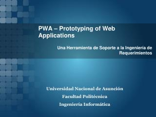 PWA – Prototyping of Web Applications