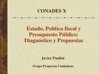 Javier Paulini Grupo Propuesta Ciudadana