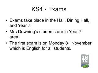 KS4 - Exams