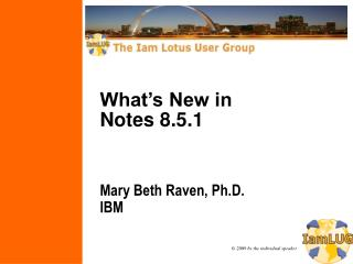 What's New in  Notes 8.5.1