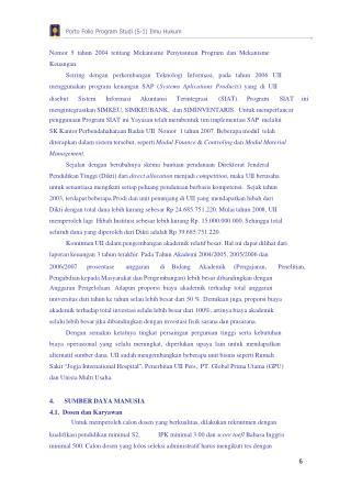 Porto Folio Program Studi (S-1) Ilmu Hukum