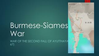 Burmese-Siamese War