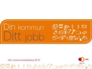 JHL:s kommunalvalstema 2012