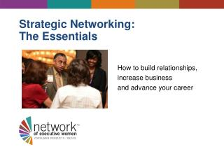 Strategic Networking: The Essentials