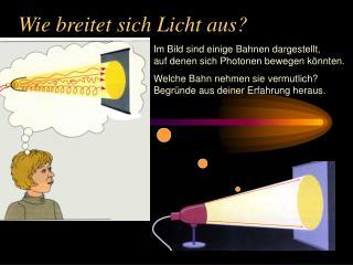 Wie breitet sich Licht aus?