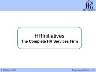 HRInitiatives The Complete HR Services Firm