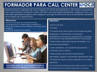 FORMADOR PARA CALL CENTER