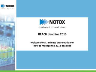 Welcome to a 7 minute presentation on h ow to manage the 2013 deadline