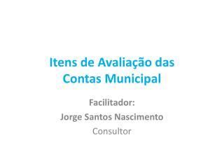 Itens de Avaliação das Contas Municipal