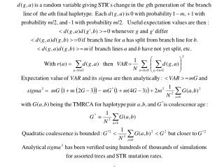 Sigma for Variance