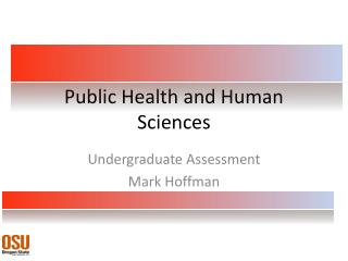 Public Health and Human Sciences