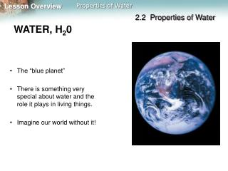WATER, H 2 0