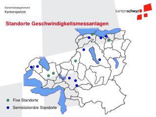 Standorte Geschwindigkeitsmessanlagen