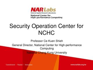 Security Operation Center for NCHC