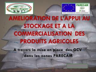 AMELIORATION DE L'APPUI AU STOCKAGE ET A LA COMMERCIALISATION DES PRODUITS AGRICOLES