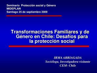 Transformaciones Familiares y de Género en Chile: Desafíos para la protección social