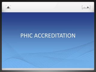 PHIC ACCREDITATION
