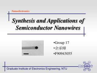 Synthesis and Applications of Semiconductor Nanowires
