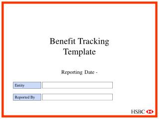 Benefit Tracking Template Reporting Date -