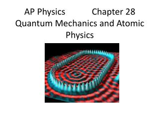 AP Physics            Chapter 28 Quantum Mechanics and Atomic Physics