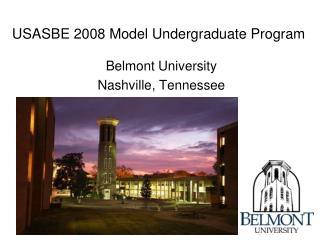 USASBE 2008 Model Undergraduate Program