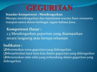 GEGURITAN