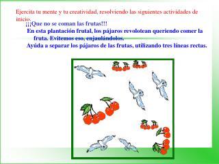 ¡¡¡Que no se coman las frutas!!!