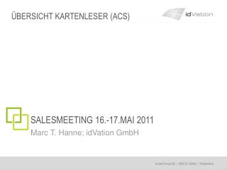 SALESMEETING 16.-17.MAI 2011
