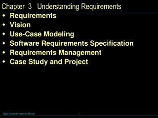 Chapter  3   Understanding Requirements